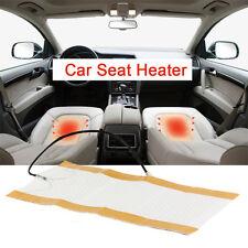 2pcs Car Seat Heater Universal Round Switch Carbon Fiber Heated Seat Warmer hot