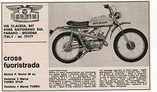 Pubblicità 1972 MOTO NEGRINI CROSS MOTOR MODENA advert werbung publicitè reklame