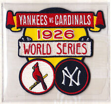 1926 WORLD SERIES PATCH CARD Willabee Ward ST LOUIS CARDINALS / NEW YORK YANKEES