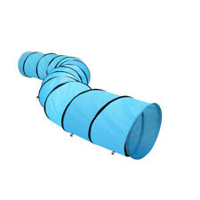 Pet Tunnel Outdoor Puppy Dog Agility Training 5.25M Run Exercise Playing Blue UK