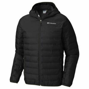 NWT COLUMBIA Men's Lake 22 Down Hooded Jacket Black