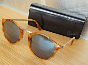 Excell.PERSOL Calligrapher PO3166-S 960/56 Tortoise Blue lens acetate sunglasses