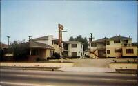 Manhattan Motel ~ 1523 E. Colorado Blvd ~ Glendale California ~ 1950s postcard