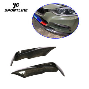 Carbon Fog Lamp Cover Fins For BMW F30 F35 320i 325i 330i 335i M sport 12-18