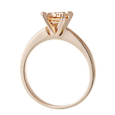 Statement Womens Rose Gold Filled Champagne Crystal Engagement Ring Size 6
