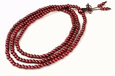 4mm Tibet Buddhism 216 red wood Buddha Mala