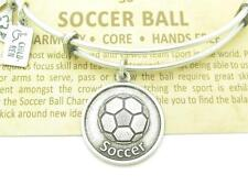 Wind & Fire Soccer Ball Charm Wire Bangle Bracelet Made In The USA Gift