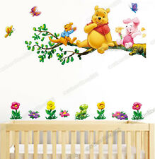 Large Winnie the Pooh On Tree Wall Stickers Nursery/Kids Room 2PCs Nursery Decor