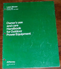 JC Penney Lawn Mower Model 0328 Owners Parts Manual