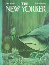 1/18/69 THE NEW YORKER Magazine CHARLES SAXON COVER