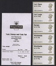 YORK JANUARY 2014 MA13 CODE Post & Go MACHIN 6xNVI A3 STRIP WITH RECEIPT
