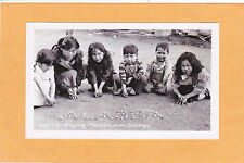 B/W Small Photo  - Alaska Eskimo Children Playing  Marbles - Sure Sign of Spring