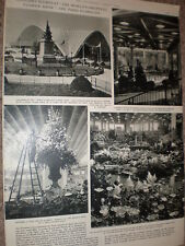 Photo article world's biggest flower show the Paris Floralies 1959 France