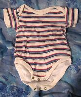 Great boy's vest with stripes fastening by groin 6 -12 months