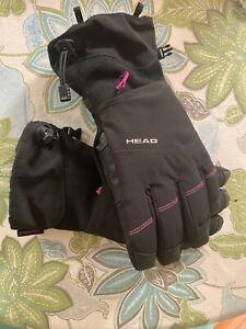 HEAD Women Ski Gloves with Zipper Pocket (Black / Pink, Large)  Nice! 😊