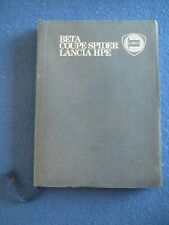 Lancia Beta, Coupe, Spider HPE  Drivers/Owners Handbook 1979