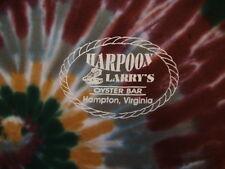 Harpoon Larry's Oyster Bar Hampton Virginia Tie-Dye T Shirt M