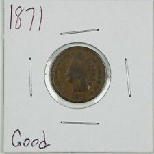 1871 1C Indian Head Cent in Good Condition #06133