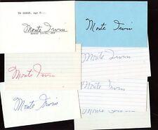 Seven Monte Irvin Autographed Index Cards (7) Hologram
