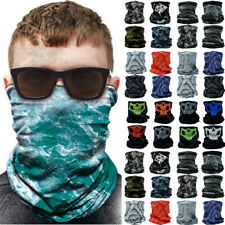 3-12 Pcs Tube Bandana Head Scarf Outdoor Face Mask Multi-use Neck Gaiter Lot