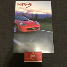 Toyota MR-S Brochure Catalog JDM MR2 Spyder Roadster 00-07 01 02 03 04 05 06 99