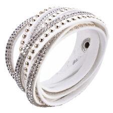 Crystal Cuff  Rhinestone Slake Stud White Bracelet Swarovski Element