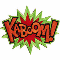 KABOOM Embroidered Iron / Sew On Patch T Shirt Bag Badge Batman X MEN Comic Word