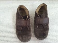 Umi Brown Suede Boys Shoes Size 26 EUR, 9.5 US Velcro PLAY CONDITION