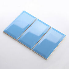 Blue Gloss Metro 10x20 Interior Backsplash Bathroom Kitchen Wall Tile CUT SAMPLE