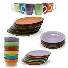 Kombiservice Geschirrset Tafelservice Kaffeeservice Porzellan Geschirr BUNT UNI