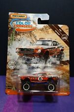 2019 Matchbox Color Changers '68 FORD MUSTANG. MBX OFF-ROAD. Long card.
