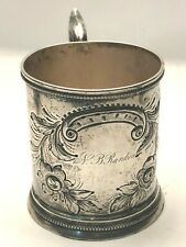 Antique Coin Silver Drinking Mug or Cup made by W. Carringson, Charleston 1830