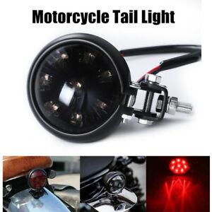 Motorcycle LED Rear Stop Brake Tail Light Smoke Len For Bobber Cafe Racer Harley