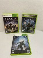 Xbox 360 Halo Lot Of 3 Games - (halo Reach, Halo Wars, Halo 4) Complete & Tested