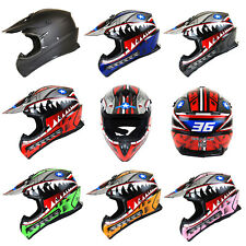 Motorcross Motocross Helmet MX ATV Bike Black Blue Green Orange Pink Red Yellow