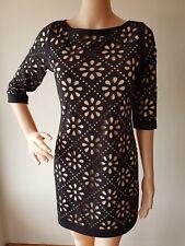 JV SELECTION AUST Ladies Black Cutout Lined Knee Length Dress Size: 8 EUC