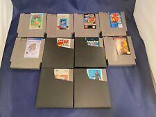 Nintendo NES Lot of 10 Games Xenophobe Boy Blob Simon's Quest Indiana & More!