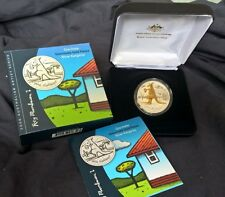 2008 ONE DOLLAR SILVER PROOF COIN -*SELECTIVELY GOLD PLATED*-*KANGAROO*