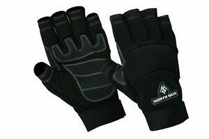 Fingerless Working Gloves Mechanics Carpenter Electrician Builder Cargo Farmer