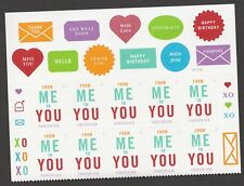 US 4978 From Me To You forever header plate block (10 stamps) MNH 2015