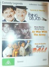 Comedy Legends (DVD, 2013) Flying Deuces - Road To Bali - At War With The Army