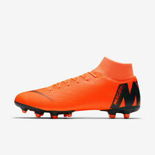 Nike Performance SUPERFLY 6 ACADEMY MG - Moulded stud football boots - white/chrome/total orange 0mIgo
