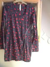Firetrap grey and red animal print tunic with feature zip M