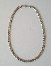 ".925 Solid Silver Necklace 18"" Curb Chain 32.7g"