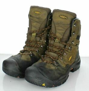 "Y29  $195 Men's Sz 10 M Keen Coburg 8"" Waterproof Steel Toe Boot In Brown"