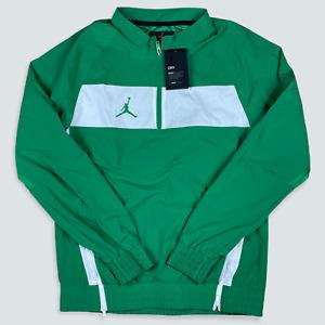 Nike Air Jordan Dri Fit 1/4 Zip Woven Jacket Green/White Men S Small CD2218-377