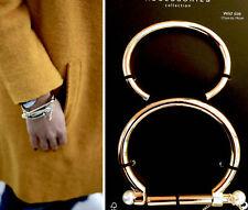 Zara Hermoso Paquete De Dos Brazaletes Pulseras de Metal Dorado aspecto minimalista, nuevo