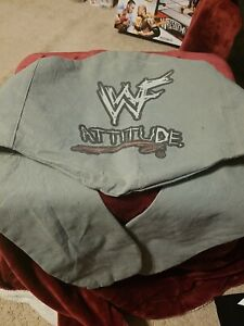 WWF attitude ERA cloth CARRYING bag for TITLE adult SIZE belts Gray ZIPPER