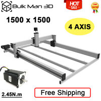 1500*1500 LEAD CNC Router Machine Kit 4 Axis CNC Milling Engraver Kit Silver