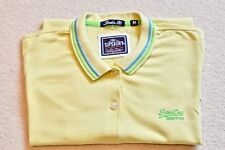 Superdry London Fit Short Sleeved Polo Shirt Medium M Slim Lemon Yellow